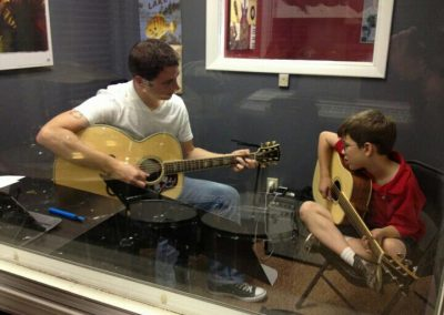 Acoustic guitar lessons are available at Anderson Music Studios.