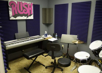 View of piano lesson room at Anderson Music Studios.
